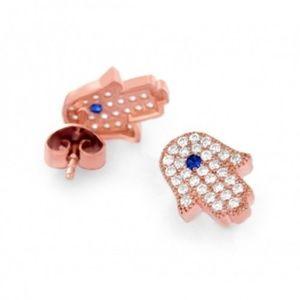 Jewelry - ROSE GOLD HAMSA EARRINGS